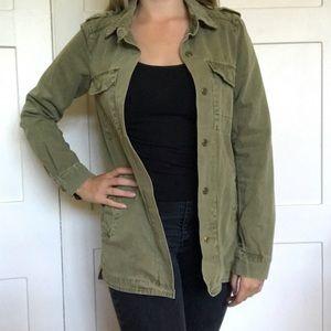 Zara Trafaluc Green Utility Jacket Small